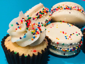 Funfetti Macaron and Cupcake