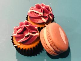 Vanilla Lavender Macaron and Cupcakes