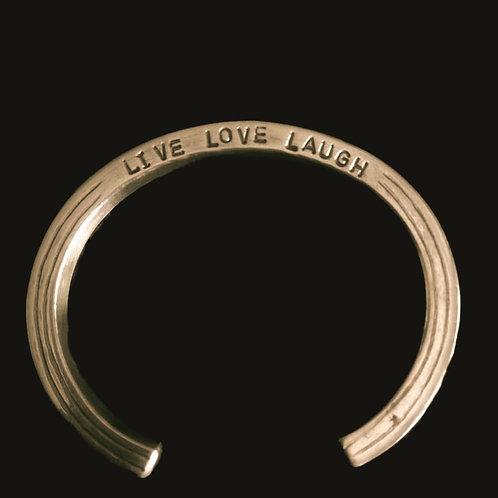 Esclava Live Love Laugh bronce