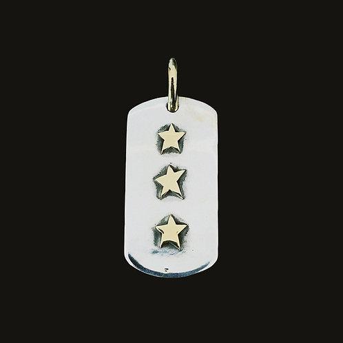 Placa Tres Estrellas Gold