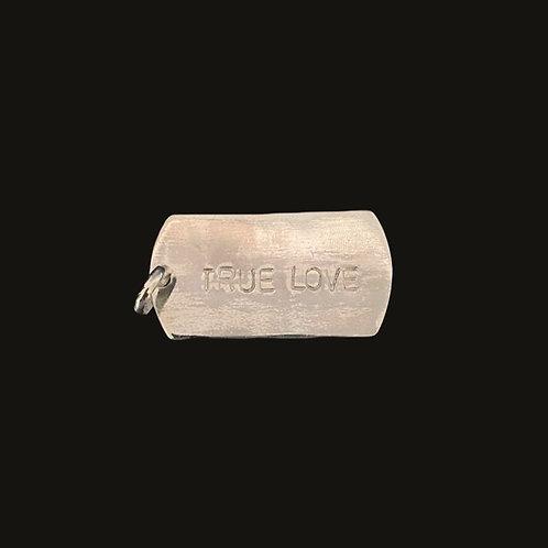 Placa True Love Silver