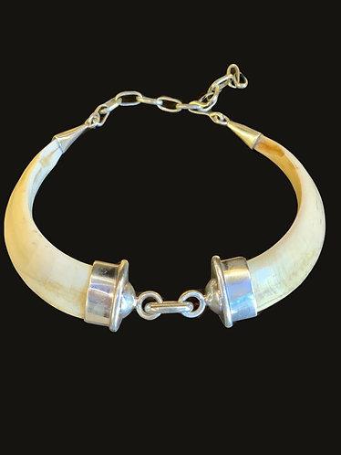 Collar Jabalí Silver Doble