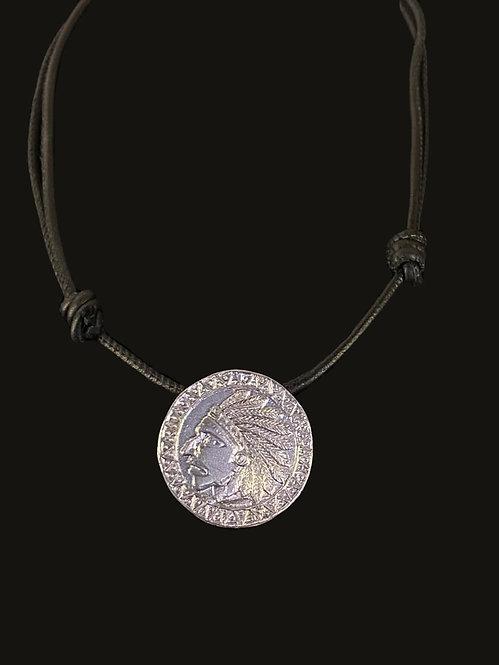 Collar Medalla Indio Silver