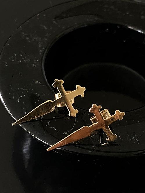 Aros Cruz Espada Gold