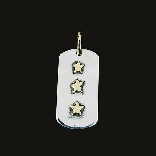 Placa Tres Estrellas Silver/Bronce