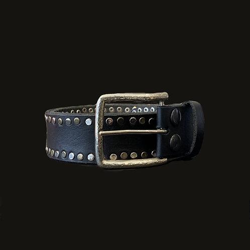 Cinturón Tachas laterales Hebilla Simple