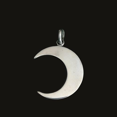Colgante Luna L Silver