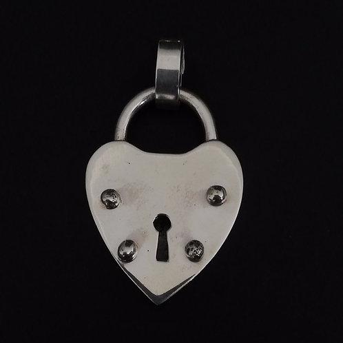 Candado Corazón Silver (con valier bronce)
