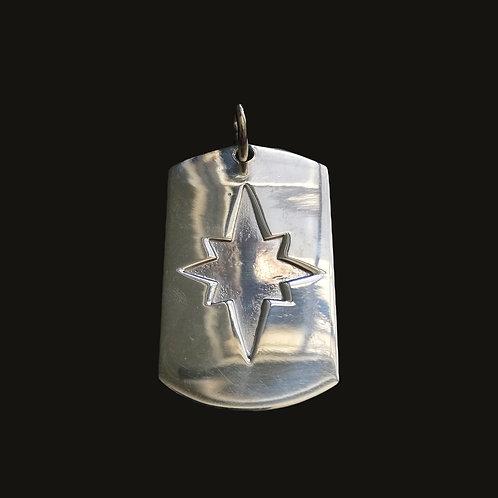 Placa Estrella de Belén Silver