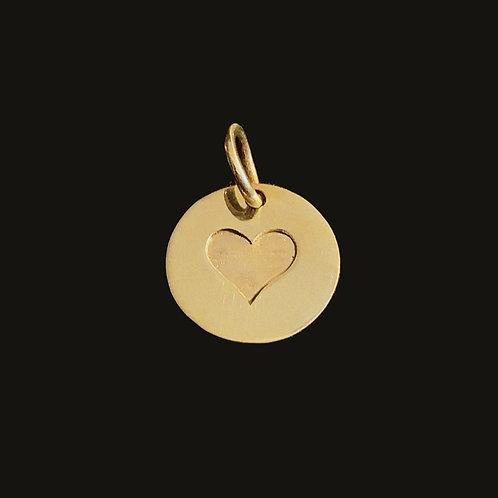Medalla corazón bronce