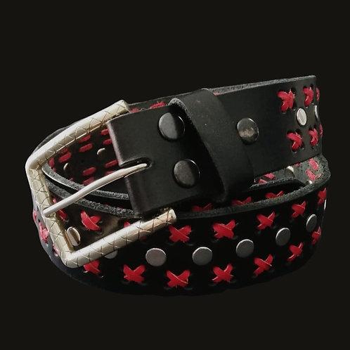 Cinturón negro X rojo