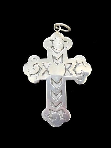 Cruz Corazón L Silver