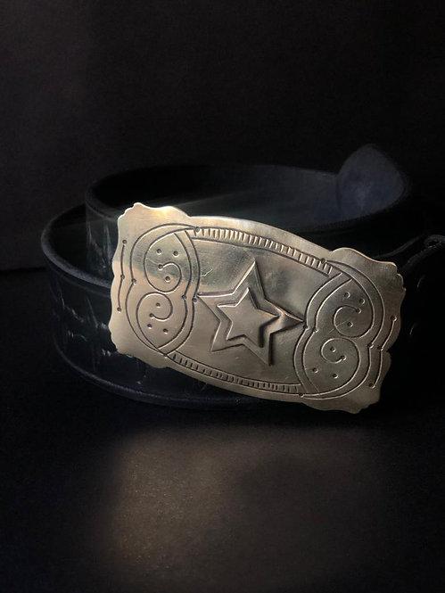 Cinturón estrella rectangular