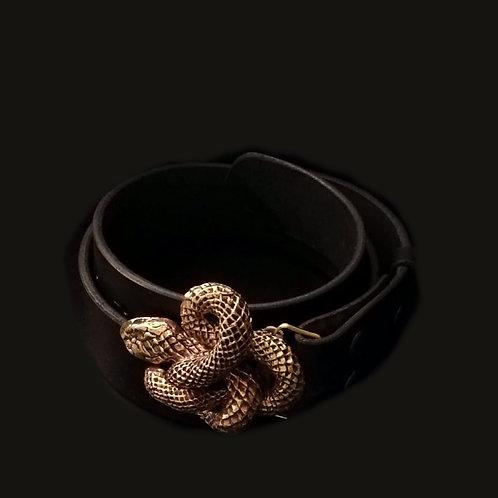 Cinturón culebra bronce