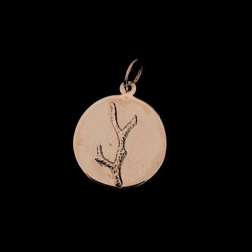 Medalla Coral Baño de Oro