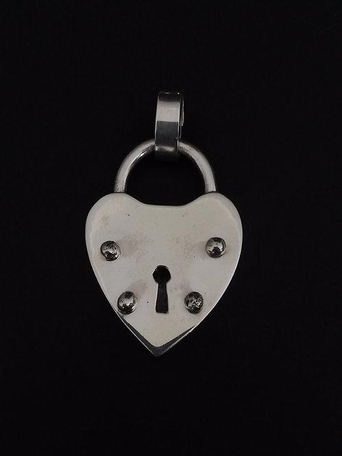 Candado Corazón Silver (con valier)