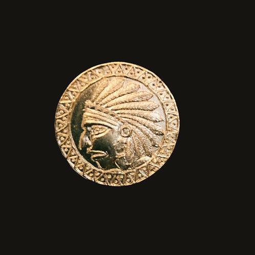 Medalla Indio baño de oro