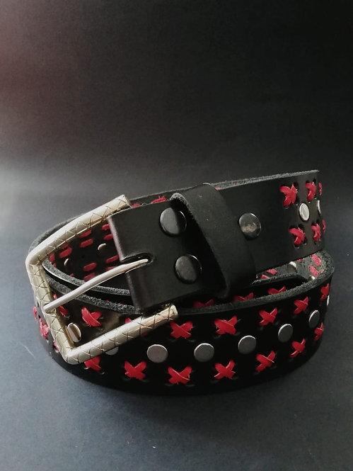 Cinturón negro/rojo