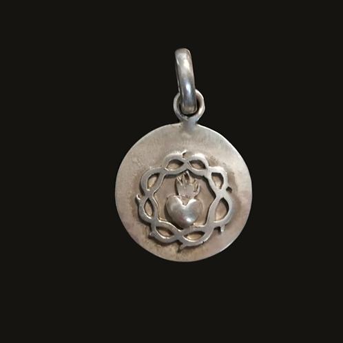 Medalla Sagrado Corazón Silver