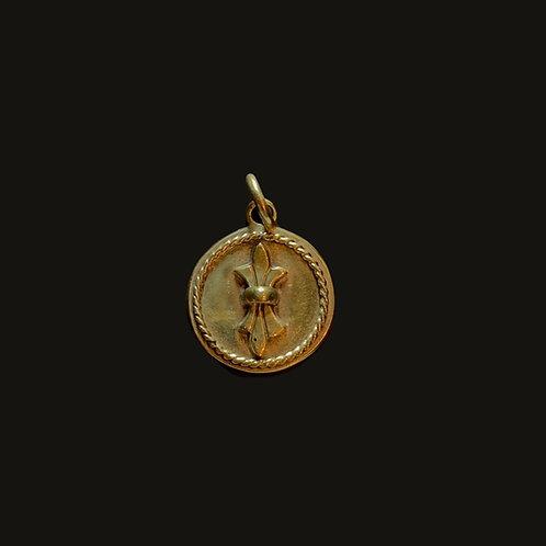 Medalla Flor De Lis Bronce