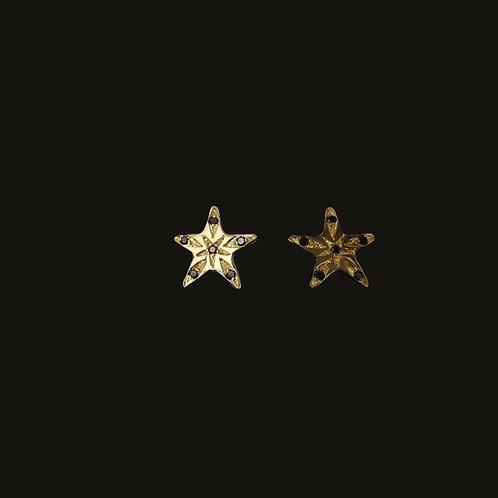 Aros Estrella Brillantes Gold