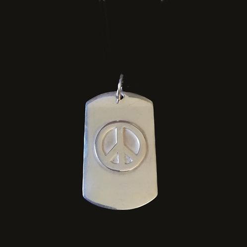 Placa Peace Silver