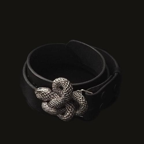 Cinturón  culebra  silver