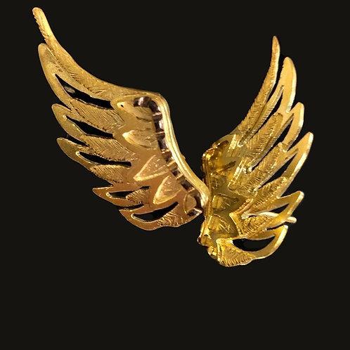 Aros Alitas Baño de Oro