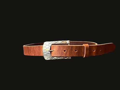 Cinturón hebilla curva alpaca
