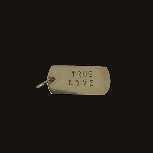 Placa True Love S  Silver