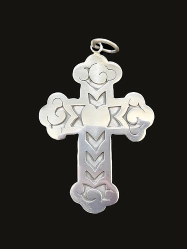 Cruz Corazón M Silver