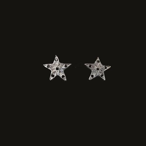 Aros Estrella Brillantes Silver