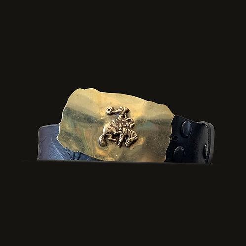 Cinturón Cuño Toro Hebilla Gaucho