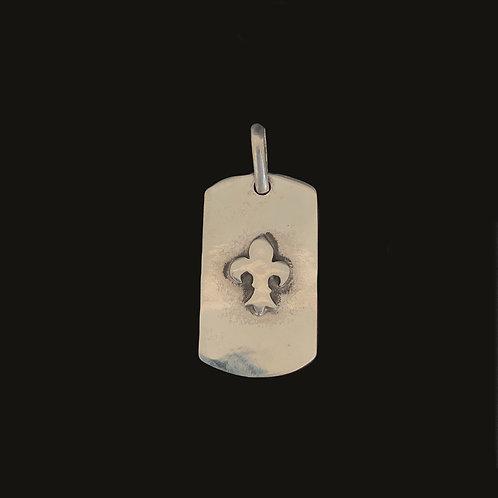 Placa Flor de Lis Silver