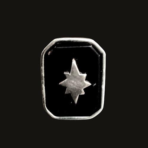 Anillo Onix Estrella Belén Silver