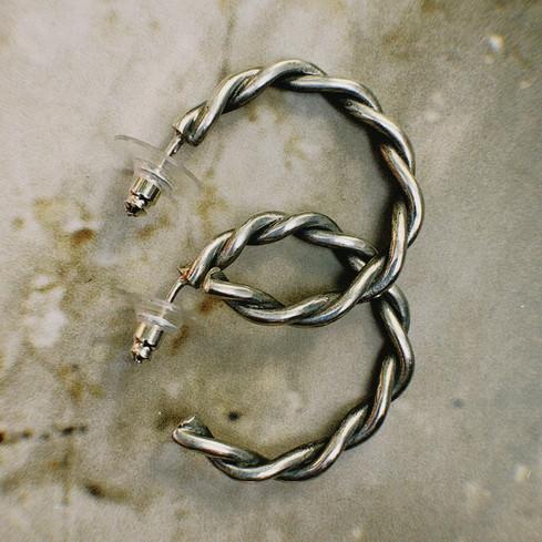 Argollas entorchadas silver