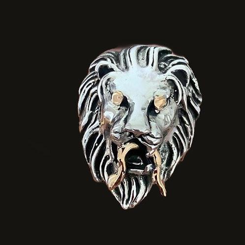 Anillo León G  Silver/Gold