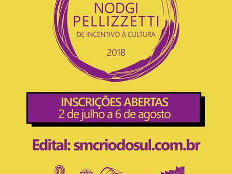 Inscrições abertas para o Prêmio Nodgi Pellizzetti de Incentivo à Cultura de Rio do Sul