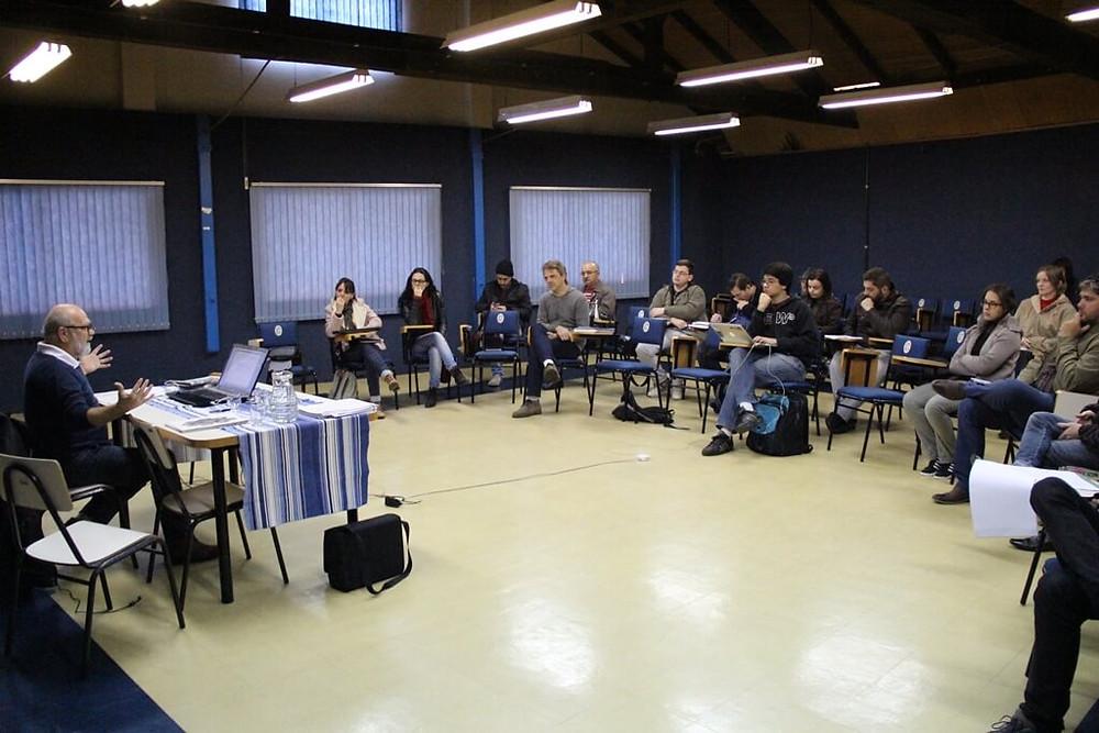 Membros também participaram de capacitação com o agente cultural de Joinville, Borges de Garuva | Foto: Tiago Amado