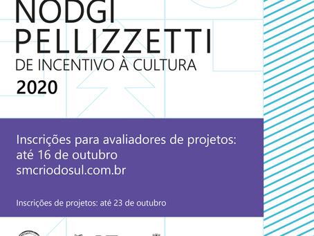 Prêmio Nodgi Pellizzetti de Incentivo à Cultura lança edital para selecionar avaliadores