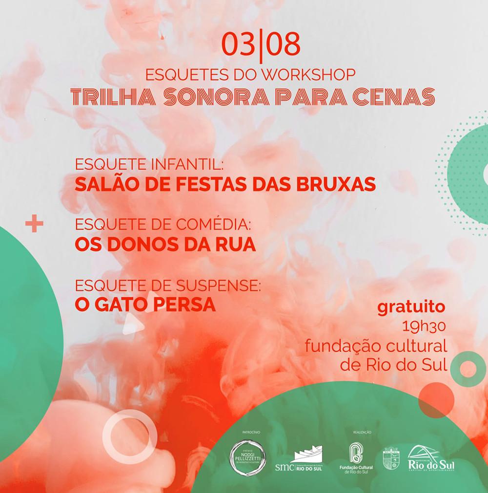 Obras foram montadas para o projeto Trilha Sonora para Cenas, contemplado pelo Prêmio Nodgi Pellizzetti