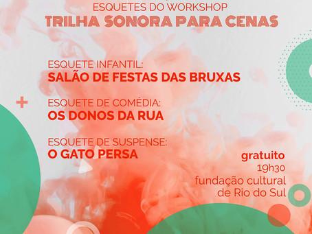 Cobaia Cênica apresenta três esquetes teatrais sábado, na Fundação Cultural de Rio do Sul