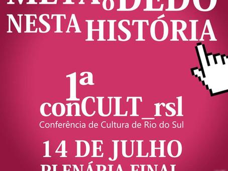Conferência de Cultura terá mais uma plenária