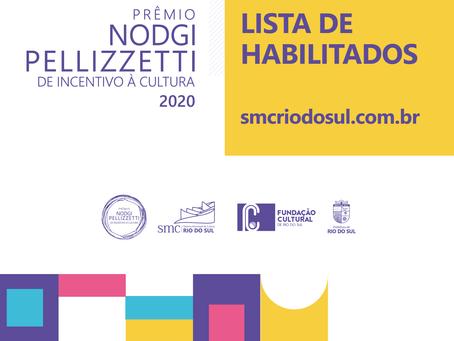 Prêmio Nodgi Pellizzetti de Incentivo à Cultura faz a habilitação de projetos inscritos
