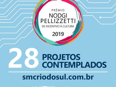 Prêmio Nodgi Pellizzetti de Incentivo à Cultura contempla 28 projetos de Rio do Sul