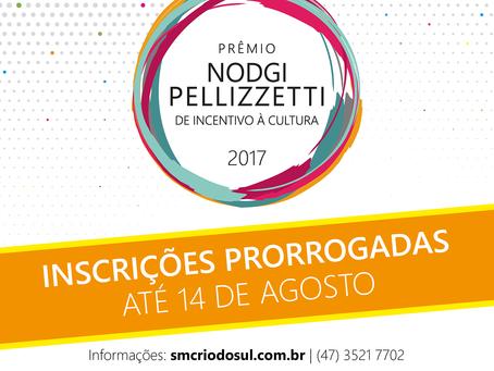 Projetos podem ser inscritos até 14 de agosto no Prêmio Nodgi Pellizzetti de Incentivo à Cultura