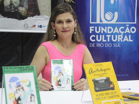 Escritora Silvia Paulo ministrará curso para os professores da rede pública de Rio do Sul