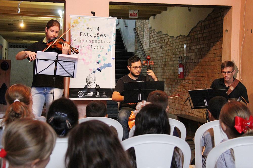 Projeto As Quatro Estações: A Perspectiva de Vivaldi apresenta obra de concerto para estudantes de Rio do Sul