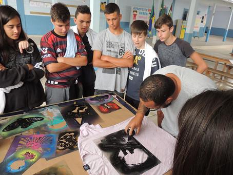 Workshop difunde a arte do grafite como ação social