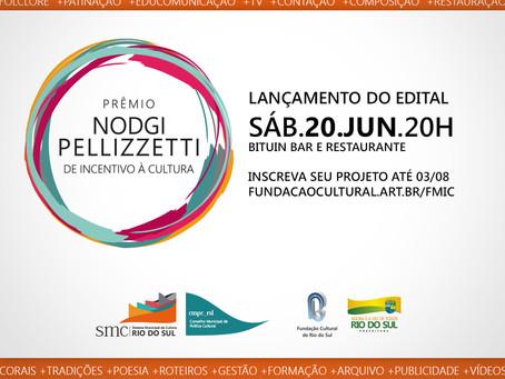 Rio do Sul lança Prêmio Nodgi Pellizzetti de Incentivo à Cultura